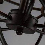 BAYCHEER Lustre Chandelier Abat-jour en Métal Style Rétro Design Cage Lampe Plafonnier 6 culot E27 de la marque BAYCHEER image 3 produit