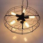 BAYCHEER Lustre Plafonnier Suspension Luminaire Forme Ventilateur Industriel Éclairage Lampe Rétro Chaîne Réglable de la marque BAYCHEER image 3 produit