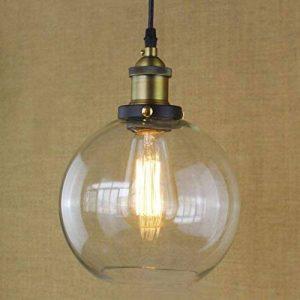 BAYCHEER Lustre Suspension Abat-jour Verre Lampe Design Clair Industriel Rétro Eclairage Decoratif de la marque BAYCHEER image 0 produit