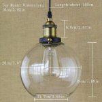 BAYCHEER Lustre Suspension Abat-jour Verre Lampe Design Clair Industriel Rétro Eclairage Decoratif de la marque BAYCHEER image 1 produit