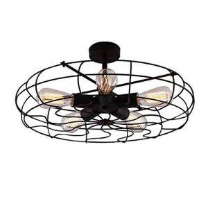 BAYCHEER Plafonnier Luminaire Forme Ventilateur Lustre Industriel Éclairage Lampe Rétro de la marque BAYCHEER image 0 produit