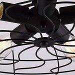BAYCHEER Plafonnier Luminaire Forme Ventilateur Lustre Industriel Éclairage Lampe Rétro de la marque BAYCHEER image 2 produit