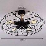 BAYCHEER Plafonnier Luminaire Forme Ventilateur Lustre Industriel Éclairage Lampe Rétro de la marque BAYCHEER image 4 produit