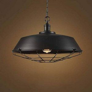 BAYCHEER Suspension Chandelier Abat-jour en Métal avec Grille Lampe Style Rétro Industriel Eclairage Decoratif -B de la marque BAYCHEER image 0 produit