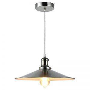 Bella Fontaine Lampe suspension rétro métal E27Vintage Suspension pour cuisine salle à manger bar Industrial Design Abat-jour Antique Suspension Rétro Silber de la marque Bellabrunnen image 0 produit