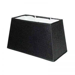 Better & Best 2393304 Abat-jour rectangulaire en coton, 30cm, lisse Noir de la marque Better & Best image 0 produit