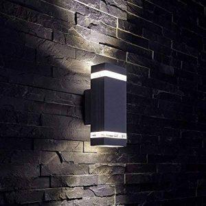 Biard - Applique Extérieure Murale LED GU10 - Double Faisceau - Design Rectangulaire Noir de la marque Biard image 0 produit