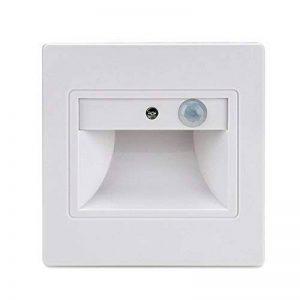 BLOOMWIN Escalier LED 4pcs Spot Mural Eclairage Encastrable Intelligente Capteur de lumière Capteurs du corps humain + Contrôle de la lumière LED Veilleuse pour Couloirs/Escaliers/Toilettes blanc chaud de la marque Bloomwin image 0 produit