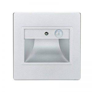 Bloomwin Escalier LED 4pcs Spot Mural Eclairage Encastrable Intelligente Capteur de lumière Capteurs du corps humain + Contrôle de la lumière LED Veilleuse pour Couloirs/Escaliers/Toilettes blanc de la marque Bloomwin image 0 produit