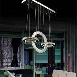 BMEI Salle à manger moderne de luxe Lustre en cristal LED Lustre de luxe Pendentif suspendu Luminaire de plafond à domicile de la marque BMEI * Plafonniers salon image 1 produit