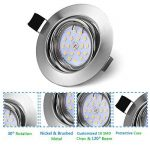 Bojim 6x LED Spots Encastrables Orientable GU10 Lampe de plafond Blanc du Jour Plafonnier Encastré 6W 600lm Equivalente de 54W Ampoule 30°orientable 120°d'éclairage 220V Rond Métal Nickel Non Dimmable de la marque Bojim image 2 produit