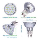 Bojim 6x LED Spots Encastrables Orientable GU10 Lampe de plafond Blanc du Jour Plafonnier Encastré 6W 600lm Equivalente de 54W Ampoule 30°orientable 120°d'éclairage 220V Rond Métal Nickel Non Dimmable de la marque Bojim image 3 produit
