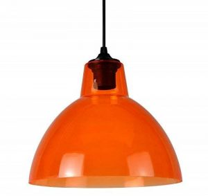 Boudet 275436 Louzzy 1 Suspension avec 1 Equipement Electrique E27 60 W Acrylique/Orange 250 x 200 cm de la marque Boudet image 0 produit