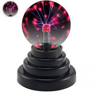 Boule de plasma 3 Inch magique sensible tactile Cristal Sphère Lumière de la sphère Gadgets de jouets Globe Lampe rétro Fun Mains Operated Gift our les décor, la chambre à coucher, la maison,enfants de la marque Yxaomite image 0 produit