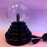 Boule de plasma 3 Inch magique sensible tactile Cristal Sphère Lumière de la sphère Gadgets de jouets Globe Lampe rétro Fun Mains Operated Gift our les décor, la chambre à coucher, la maison,enfants de la marque Yxaomite image 1 produit