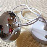 Boule tréssée lampe suspension Lustre Beige Plafond Vintage Décoration pour Chambre Restaurant Couloir Diamètre 25cm de la marque AZX image 1 produit