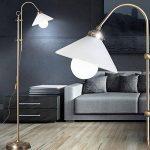 Bow stand lampe hauteur Bureau réglable support lampe laiton antique dans la source de lumière LED incluse set de la marque etc-shop image 1 produit