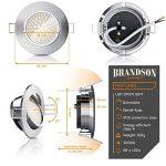 Brandson - Dimmable spot encastrable réglable à LED Lumière LED | Structure en aluminium moulé sous pression mince (aspect en acier inoxydable) Angle de faisceau: 120 ° | 230V | 4,0 W | 350 lumens | Classe d'efficacité énergétique A + de la marque Brandso image 1 produit