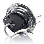 Brandson - Dimmable spot encastrable réglable à LED Lumière LED | Structure en aluminium moulé sous pression mince (aspect en acier inoxydable) Angle de faisceau: 120 ° | 230V | 4,0 W | 350 lumens | Classe d'efficacité énergétique A + de la marque Brandso image 2 produit