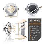 Brandson - Set 6 x Spot de plafond LED blanc chaud pivotant | lampe encastrée LED | spot encastré LED / Spotlight / plafonnier LED | cadre moulé en aluminium mine (aspect inox) | mécanisme de fixation avec clip | angle de rayonnement : 120° | 230 V | 3,5 image 1 produit