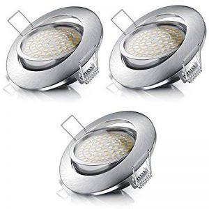 Brandson - Set de 3 Spots LED Dimmable Encastrable 3 x 5W   350 lm orientable, ultra plat   Structure en aluminium   Angle de faisceau: 120 Classe d'efficacité énergétique A + de la marque Brandson image 0 produit