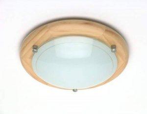 Brilliant 90181/36 Applique/Plafonnier Métal/Bois/Verre Marron 30 x 30 x 8,5 cm de la marque Brilliant image 0 produit