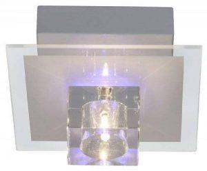 Brilliant AG G94054/00 Sandor Plafonnier 1 Lumière avec Changement de Couleurs RGB/Télécommande Métal/Verre G4 16 W Transparent de la marque Brilliant AG image 0 produit