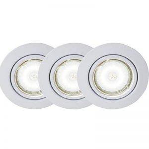Brilliant G94690A05 Honor Kit 3 Spots Encastrés Orientables LED, Métal/NC, GU10, 5 W, Blanc de la marque Brilliant image 0 produit