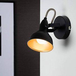 Briloner Leuchten 2049-015 Spot 2 en 1 plafonnier ou applique murale - luminaire style vintage - métal noir & or mat - douille E14 - 40 W max. - 15.6 x 10 x 15.6 cm de la marque Briloner Leuchten image 0 produit