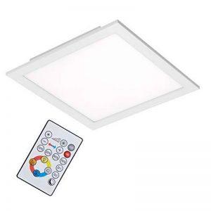 Briloner Leuchten Plafonnier LED à intensité variable avec télécommande et ampoule LED 18 W 1800 lm Blanc 29,5 cm de la marque Briloner Leuchten image 0 produit