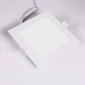 Bsolli 18W LED plafond Flat Panel Ultra fin lumière 6000K Blanc chaud, AC100–240,1300lm, pour le salon, la chambre à coucher, cuisine (carré, à encastrer) de la marque Bsolli image 0 produit