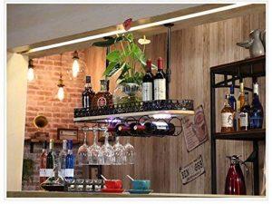 BTJJ Porte-bouteilles rouge style scandinave suspendus porte-bouteilles de vin décoration Porte-bouteilles de vin solide en bois porte-bouteilles de vin tasse arrière haut lustre ( Couleur : Noir , taille : 100*28cm ) de la marque BTJJ image 0 produit