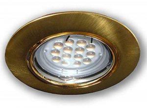 C-light spot lED encastrable rond en laiton brossé gU10 lED 5 w 230 v de la marque C-Light GmbH image 0 produit