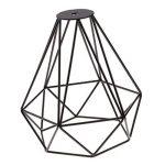 Cage en Métal Forme de Diamant Abat-Jour de Lampe de Plafond Vintage Pendentif Loft Décor - Noir de la marque Générique image 2 produit
