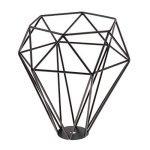 Cage en Métal Forme de Diamant Abat-Jour de Lampe de Plafond Vintage Pendentif Loft Décor - Noir de la marque Générique image 3 produit