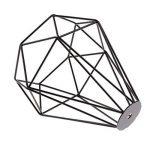 Cage en Métal Forme de Diamant Abat-Jour de Lampe de Plafond Vintage Pendentif Loft Décor - Noir de la marque Générique image 4 produit