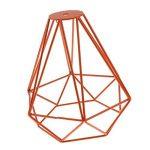 Cage en Métal Forme de Diamant Abat-Jour de Lampe de Plafond Vintage Pendentif Loft Décor - Orange de la marque Générique image 2 produit