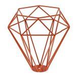 Cage en Métal Forme de Diamant Abat-Jour de Lampe de Plafond Vintage Pendentif Loft Décor - Orange de la marque Générique image 3 produit