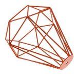 Cage en Métal Forme de Diamant Abat-Jour de Lampe de Plafond Vintage Pendentif Loft Décor - Orange de la marque Générique image 4 produit