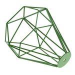 Cage en Métal Forme de Diamant Abat-Jour de Lampe de Plafond Vintage Pendentif Loft Décor - Vert de la marque Générique image 4 produit