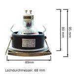Carré IP44aux projections d'eau Spot encastrable de salle lampe luminaire plafond (sans ampoule) LED et ampoules halogènes avec douille GU10 de la marque Hagemann image 1 produit
