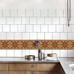 Carrelage Autocollant - Sticker adhésiv pour mural de salle de bain et cuisine | Tuiles décalcomanies - Stickers carrelage Carrelage Adhesif Moderne Autocollant en bois de style baroque , 20*100cm*5pcs de la marque JY ART image 2 produit