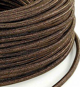 Câble électrique dans Revêtement coloré plastique. Fabriqué en Italie. 2x 0, 75couleur: Lame 'marron de la marque MeToo Design image 0 produit