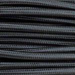 Câble électrique en tissu rond Rond Style Vintage avec revêtement coloré Noir H03VV-F section 2x 0,75pour lustres, lampes, abat jour, Design. Fabriqué en Italie de la marque MeToo Design image 1 produit