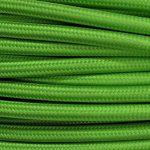 Câble électrique en tissu rond Rond Style Vintage avec revêtement coloré vert citron Kiwi H03VV-F section 2x 0,75pour lustres, lampes, abat jour, Design. Fabriqué en Italie de la marque MeToo Design image 1 produit