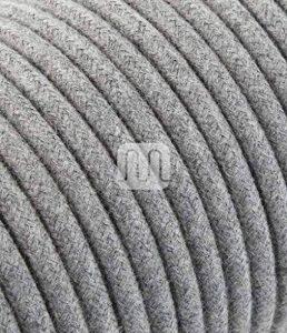 Câble électrique rond Rond recouvert de tissu coloré fils brut Gris 2x 0,75pour lustres, lampes, abat jour, Design. Fabriqué en Italie. de la marque Merlotti image 0 produit