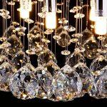 CCLIFE Lustre en cristal Luminaire Plafonnier Moderne Design Ø45cm Pour Couloir, Bar, Cuisine, Salle à Manger, 9 x G9 douille - Luminaire plafonnier - Luminaire de la marque CCLIFE image 1 produit