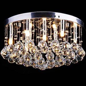 CCLIFE Lustre en cristal Luminaire Plafonnier Moderne Design Ø45cm Pour Couloir, Bar, Cuisine, Salle à Manger, 9 x G9 douille - Luminaire plafonnier - Luminaire de la marque CCLIFE image 0 produit