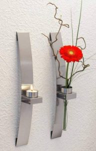 CHG 3342-00 Porte-bougie/fleur mural Lot de 2 39,5 x 5 x 8 cm de la marque CHG image 0 produit