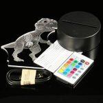 CHIGANT Lampe de Nuit LED 3D Dinosaure 7 Couleurs de Lumière USB Rechargeable 2W Décoration de Chambre Lampe de Chevet Bureau télécommandée de la marque CHIGANT image 3 produit